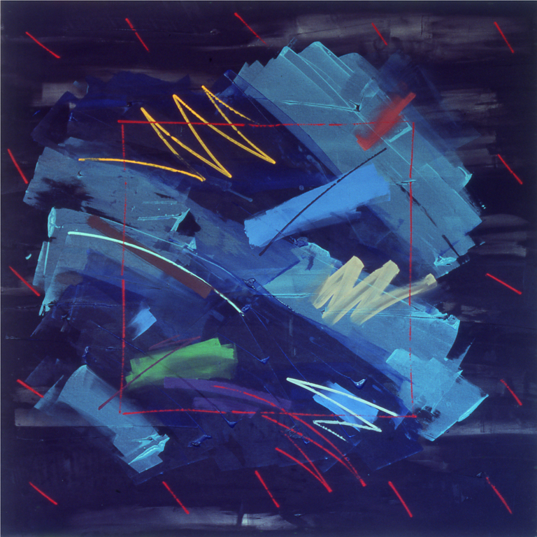 "Devil Blues (1979), acrylic/canvas, 78"" x 78"""