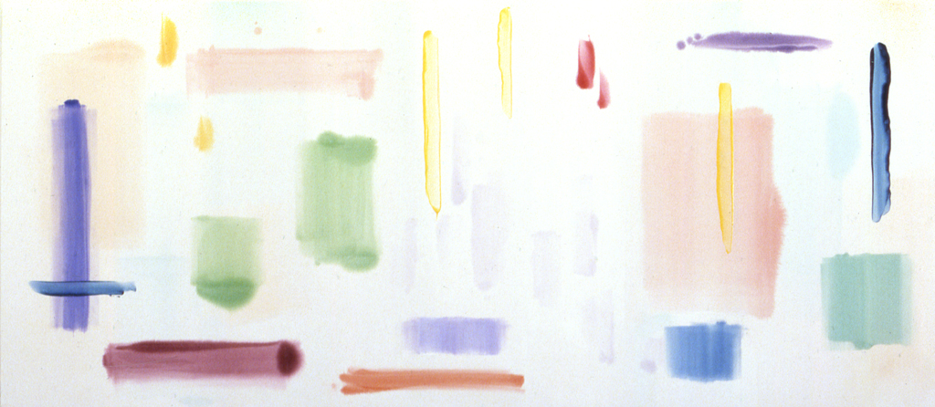 """April, Sunny Day (1988), acrylic/canvas, 78"""" x 180"""""""