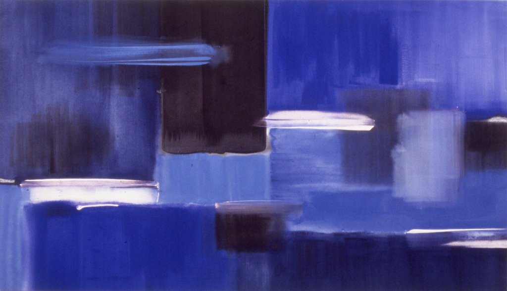 """The Virtue of White (1989), acrylic/canvas, 48"""" x 84"""""""