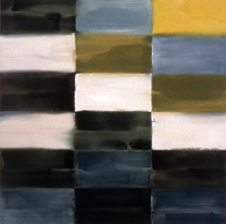 "Land and Sea (1996), acrylic/canvas, 48"" x 48"""