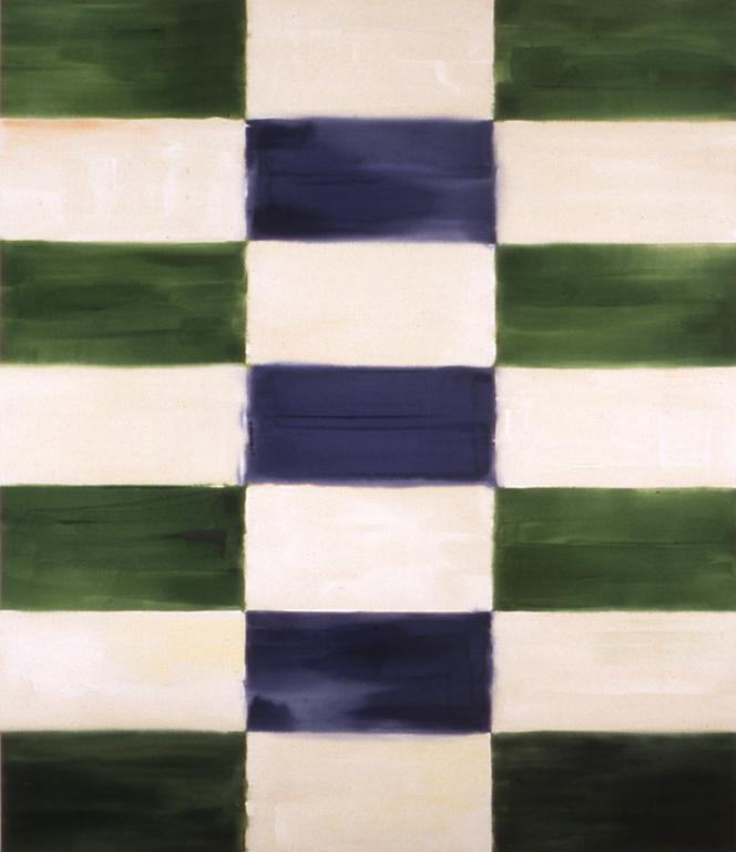 "Judd (1998), acrylic/canvas, 90"" x 78"""