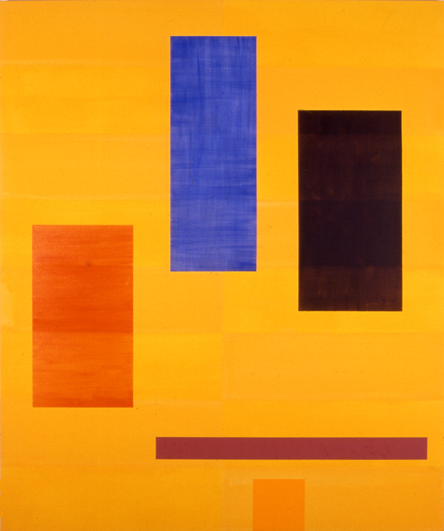 "Yellow (2000), acrylic/canvas, 72"" x 60"""