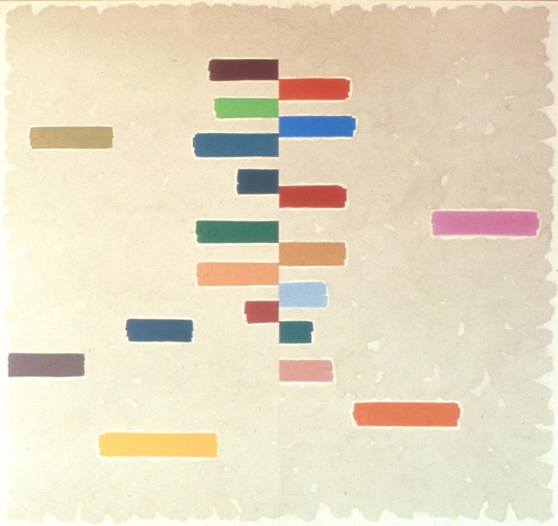"Phoenix (diptych) (1973, 108"" x 108"""