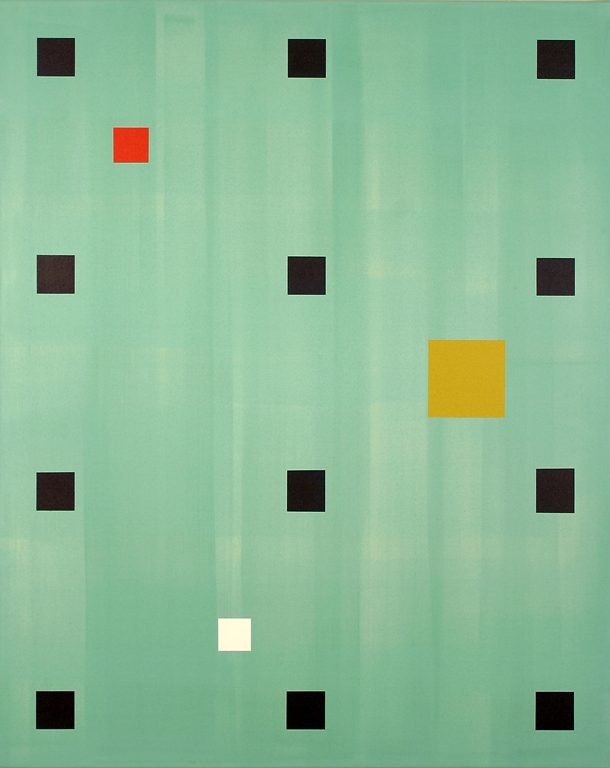 "Medieval Modernism (2004), acrylic/canvas, 60"" x 48"""