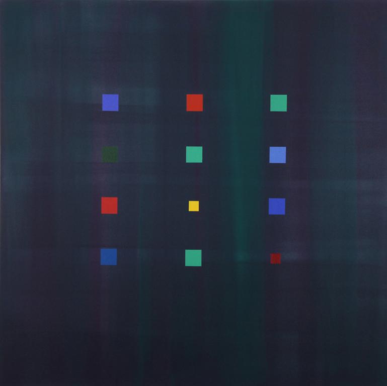 """Blue Stars (2007), acrylic/canvas, 60"""" x 60"""""""