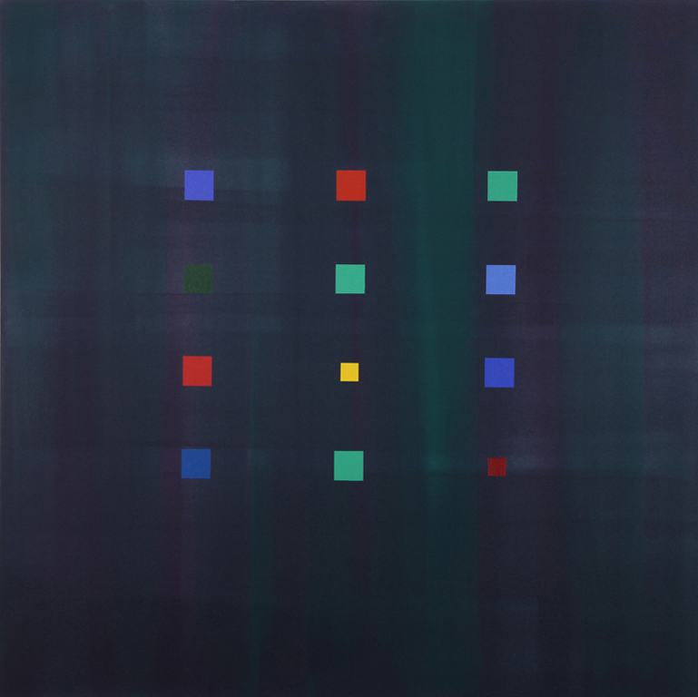 "Blue Stars (2007), acrylic/canvas, 60"" x 60"""