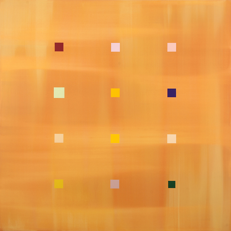"New Day Grid (2007), acrylic/canvas, 66"" x 66"""