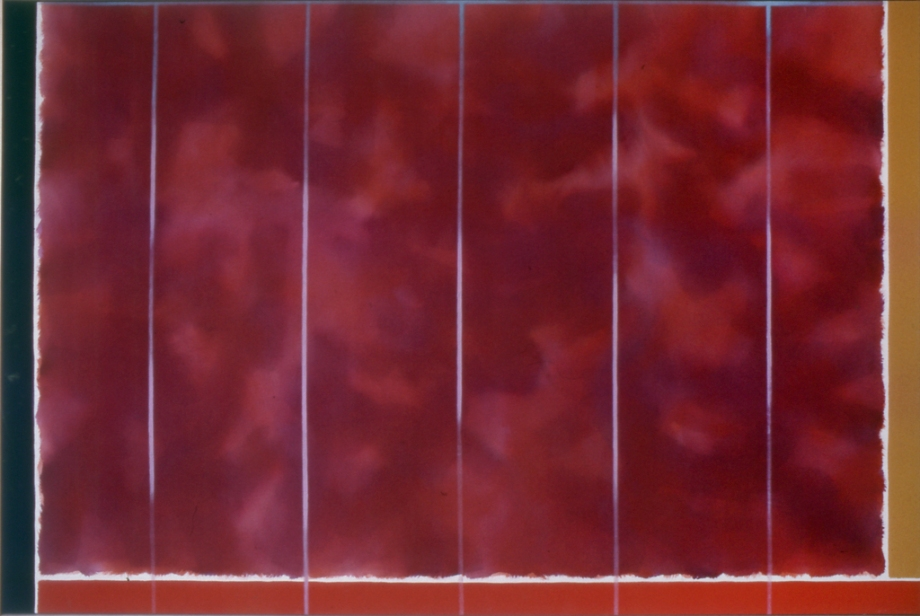 "Looking Glass (1974), acrylic/canvas, 48"" x 72"""
