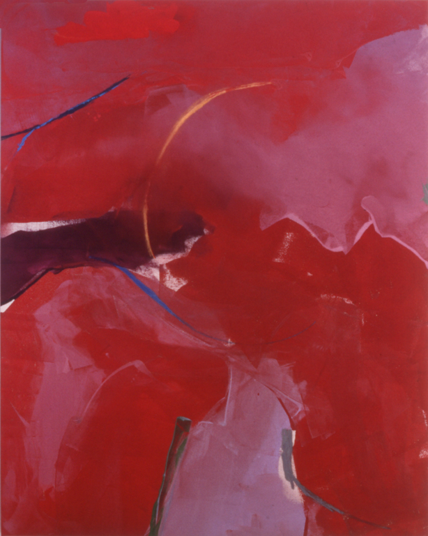 "Matisse Red (1976), acrylic/canvas, 60"" x 48"""