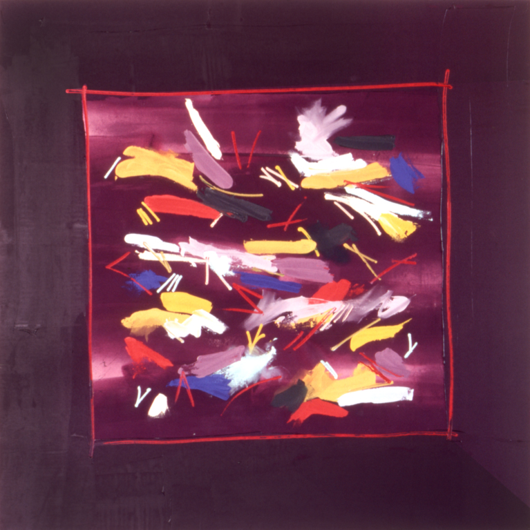 "Cellebrate ((1978), acrylic/canvas, 78"" x 78"""
