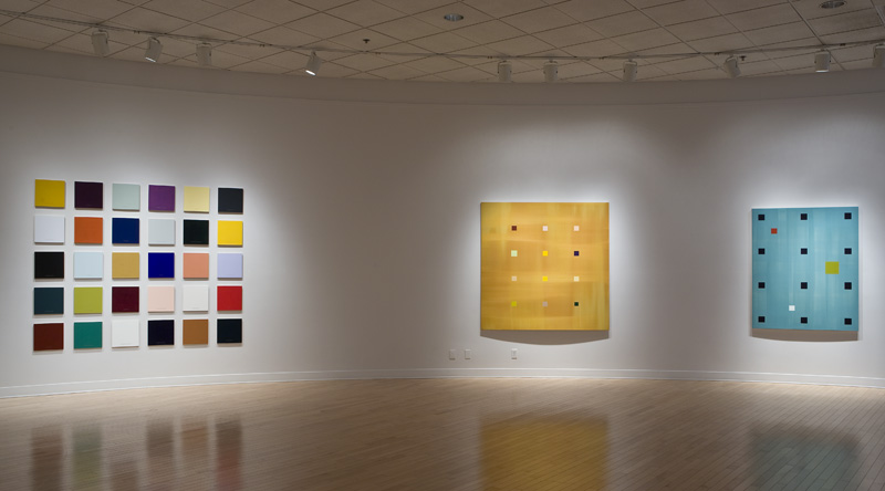 (From left) Colour and Meaning: an Incomplete Palette (2008), New Day Grid (2008) and Medieval Modernism (2004)