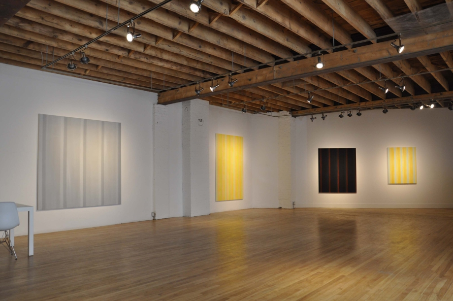 (From left) Everything and Nothing (2012), #5 in Gold (2012), The Dilemma (2012), and Breathing Space for Agnes (2012)