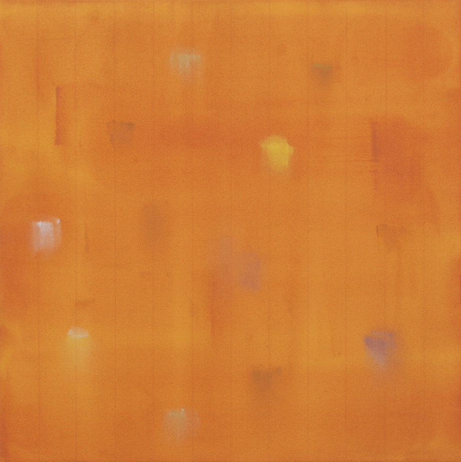 "Incident (Ochre) 2015, #2 of set of 5, 24"" x 24"""