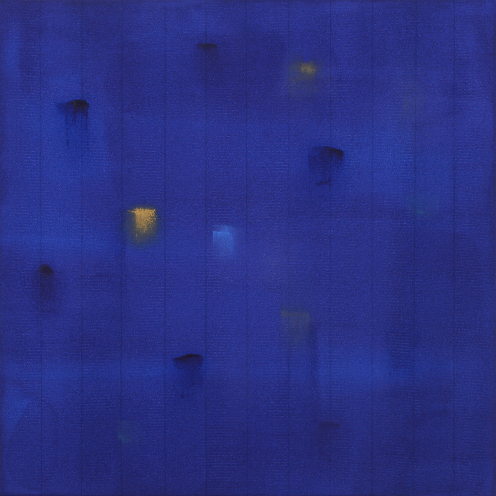 Incident (Deep Blue) 2015, acrylic on canvas, #5 of set of 5, 24