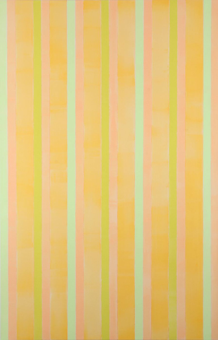 "#5 in Gold (2012), acrylic on canvas, 84"" x 52"""