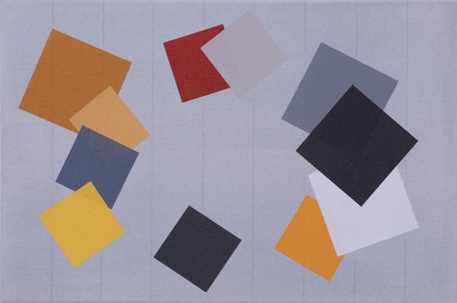 "September/October #2 (2014), acrylic on canvas, 12"" x 18"""