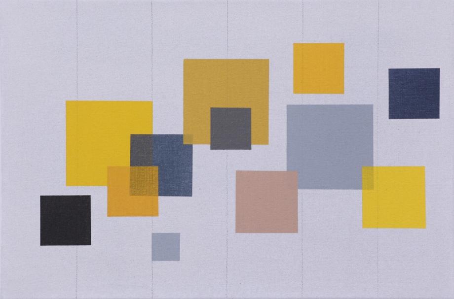 "September/October #1 (2014), acrylic on canvas, 12"" x 18"""