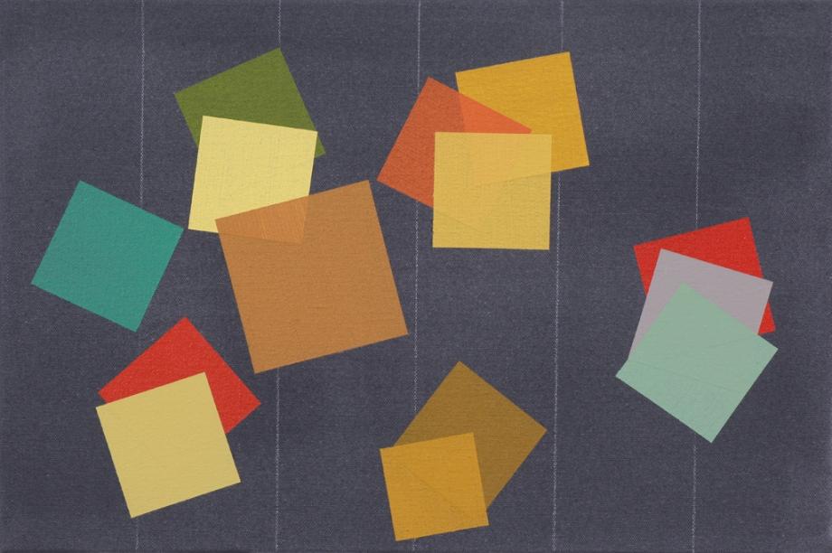 "September/October #4 (2014), acrylic on canvas, 12"" x 18"""